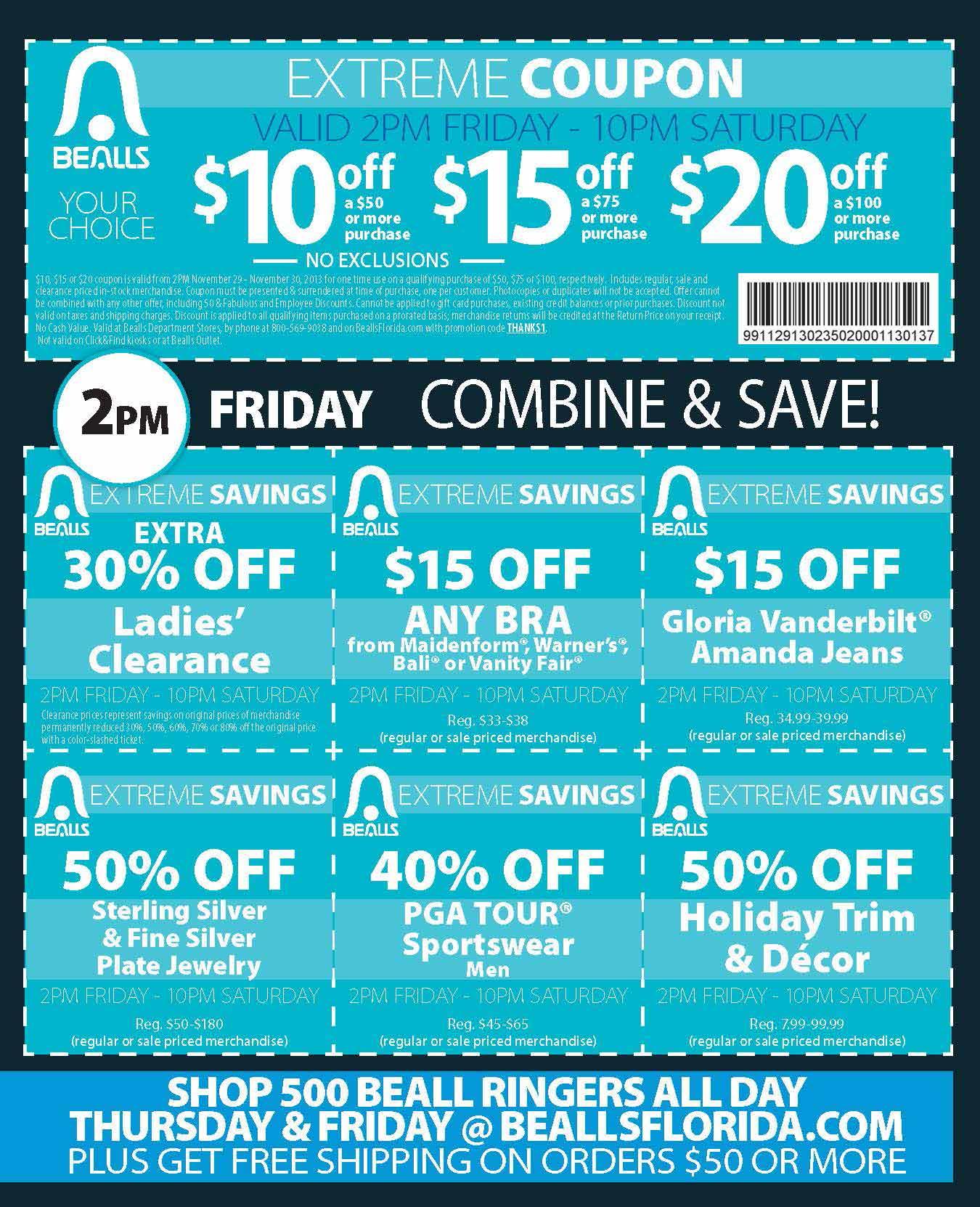 Bealls $10 Off Coupon Texas : Miramar 76 Coupon - Free Printable Bealls Florida Coupon