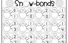 Free Printable Number Bonds Worksheets For Kindergarten