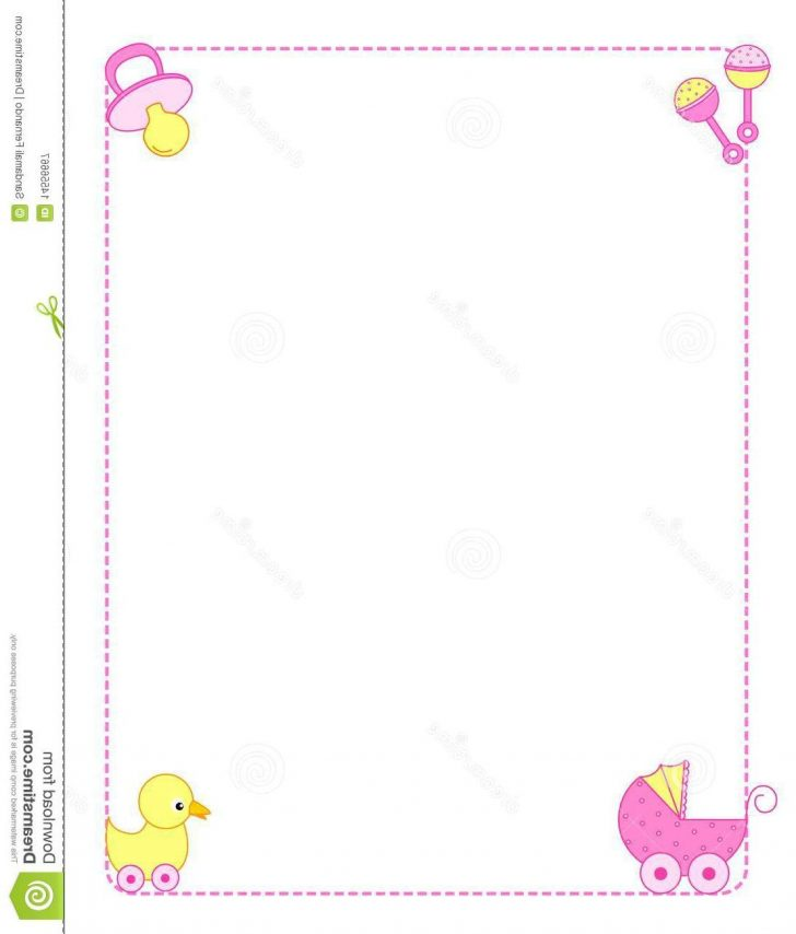 Free Printable Baby Borders For Paper