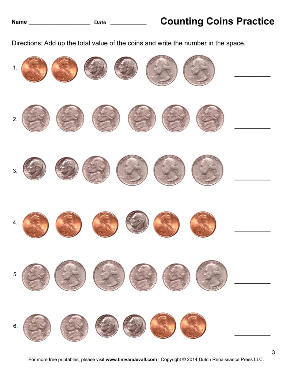 Best Of Printable Money Worksheets First Grade | Fun Worksheet - Free Printable Money Worksheets For 1St Grade