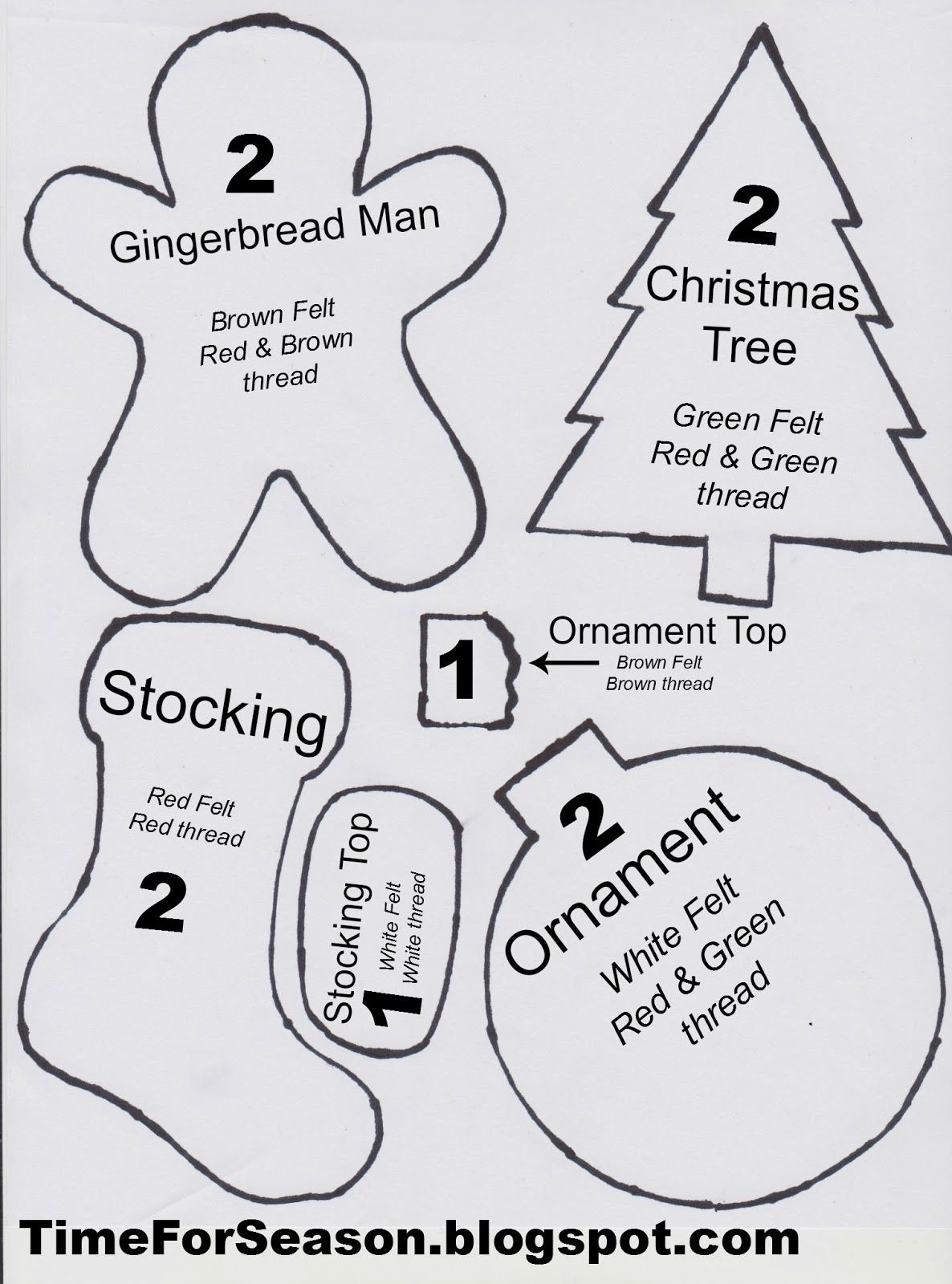 Best Photos Of Christmas Felt Ornament Patterns Printable  …   Ho - Free Printable Christmas Ornament Patterns