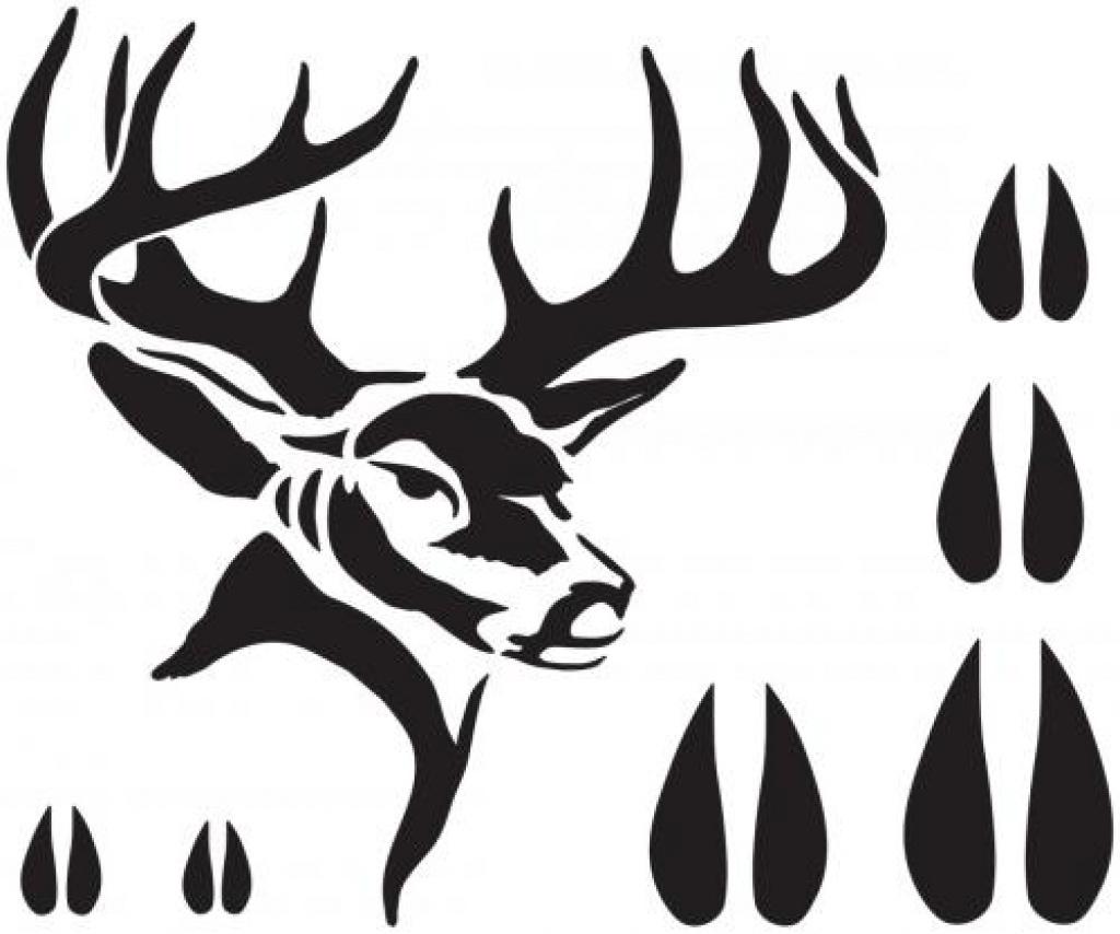 Best Photos Of Free Printable Deer Stencils - Deer Head Silhouette - Free Printable Deer Pumpkin Stencils