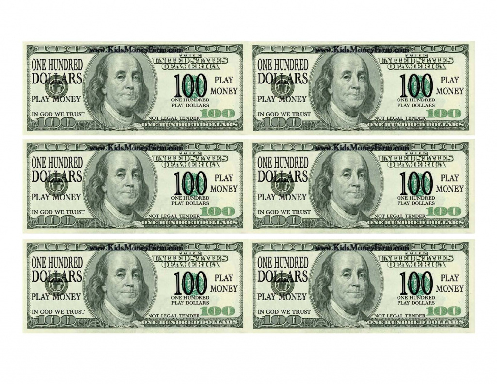 Best Photos Of Printable Fake Money Bills - Fake Money 100 Dollar - Free Printable Play Dollar Bills