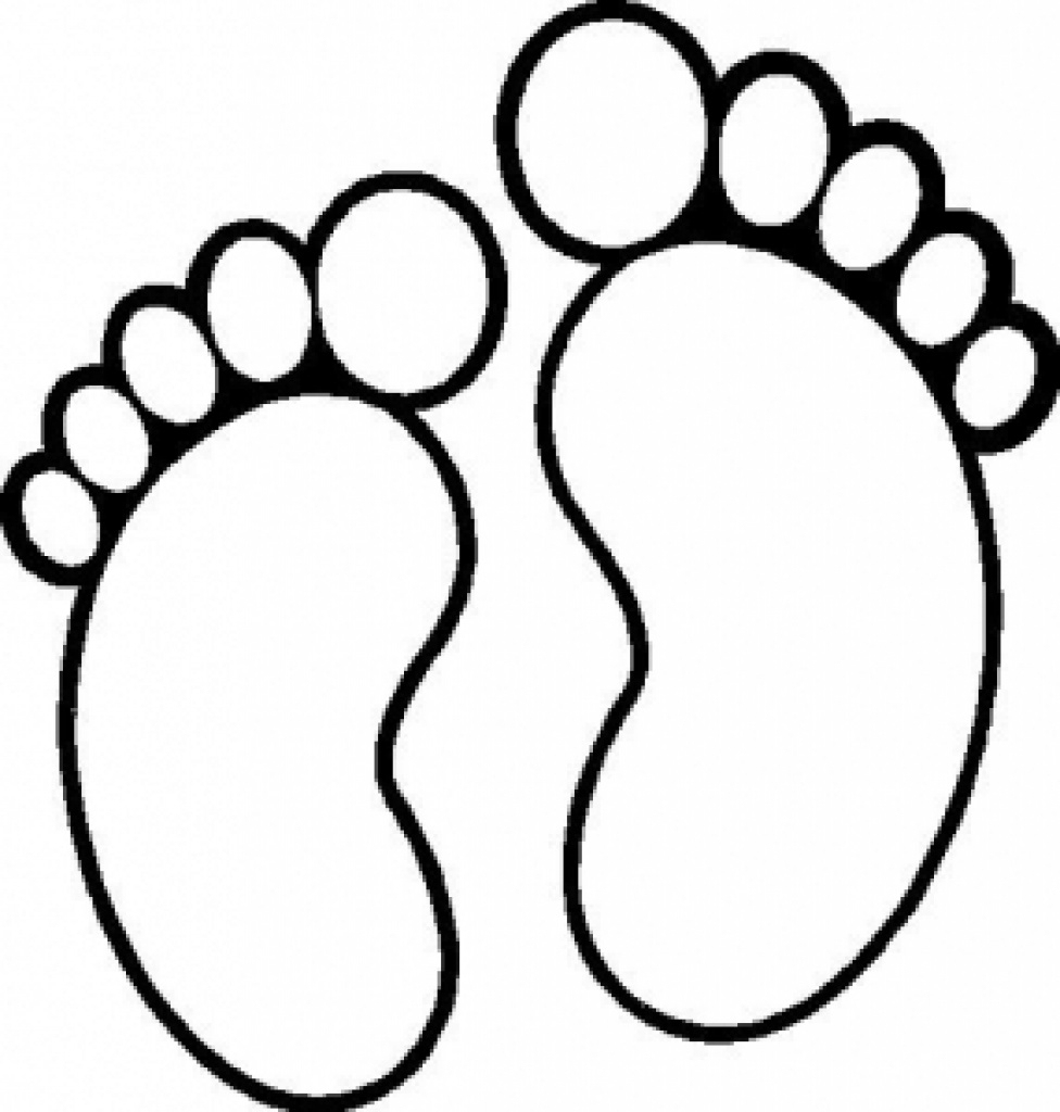 Best Photos Of Printable Feet Template - Free Printable Baby Feet - Free Printable Footprints