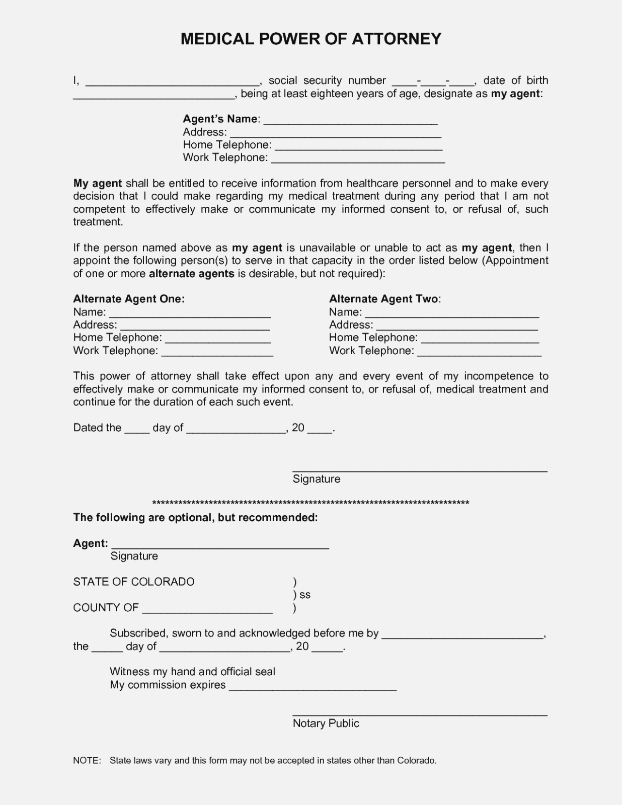 Best Photos Of Printable Medical Power Attorney Forms – Free - Free Printable Medical Power Of Attorney