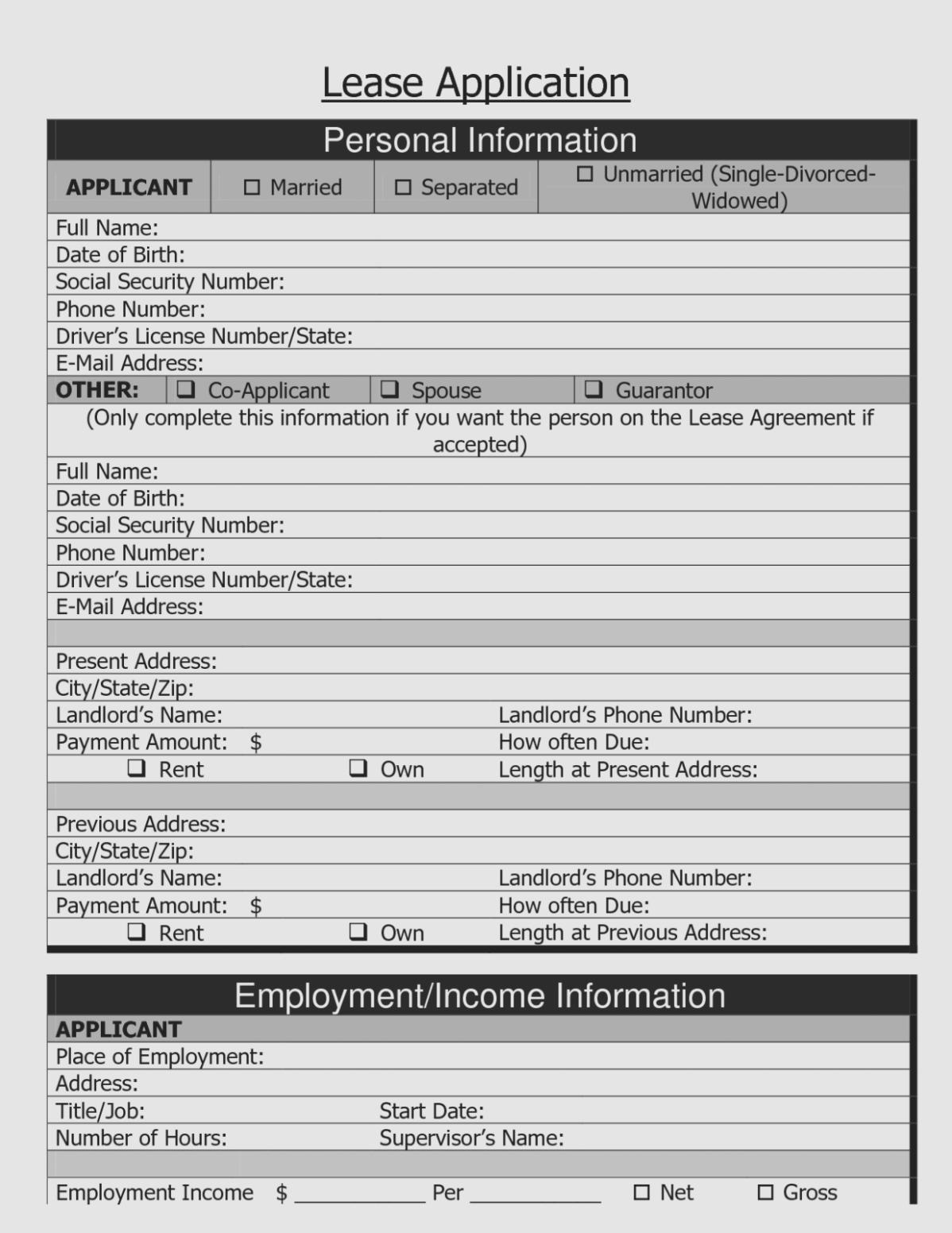 Best Photos Of Printable Rental Agreement – Free Printable Rental - Free Printable Rental Application