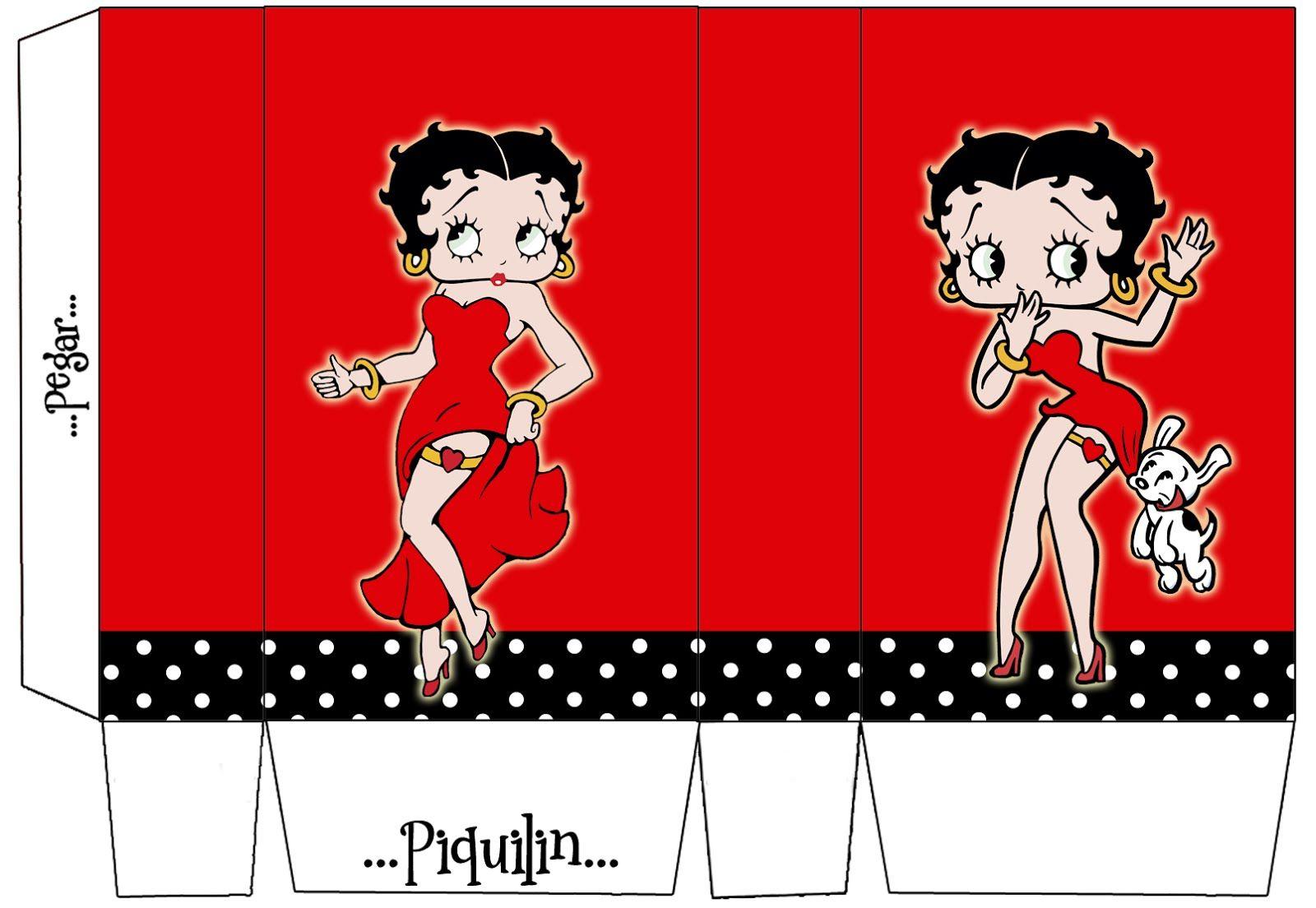 Betty Boop: Free Printable Mini Kit.   Janet   Pinterest   Betty - Free Printable Betty Boop