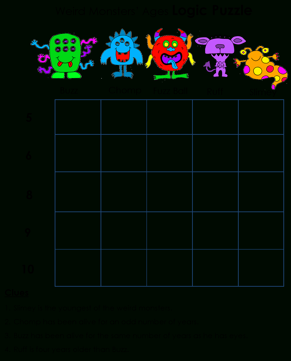 Beyond Gold Stars: Logicawesome Printable Logic Puzzles | Logic - Free Printable Logic Puzzles For Middle School