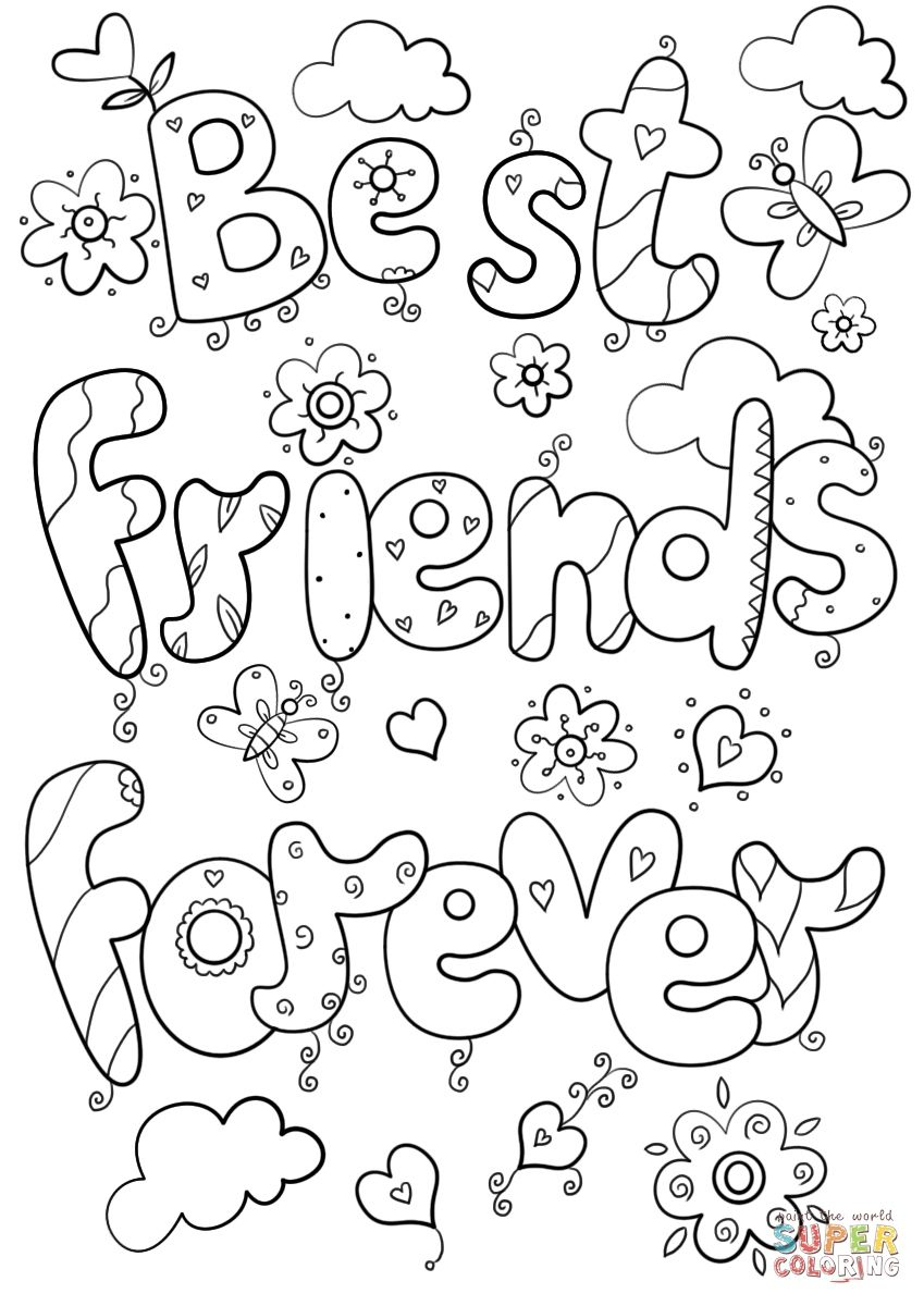 Bff Coloring Pages Best Of Friends Forever Page Logo And | Ideas For - Free Printable Bff Coloring Pages