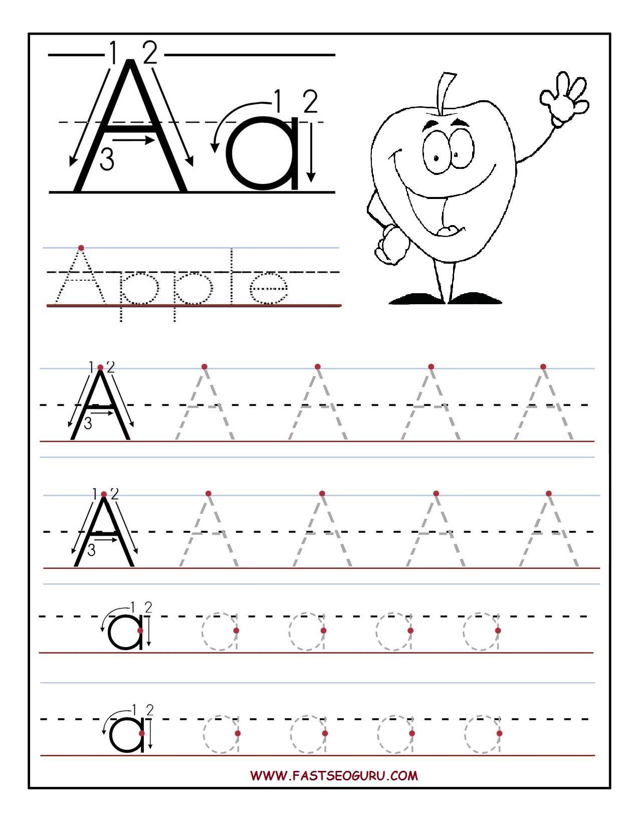 B>Free</b> <B>Printable</b> Letter A Tracing <B>Worksheets</b - Free Printable Activities For Preschoolers