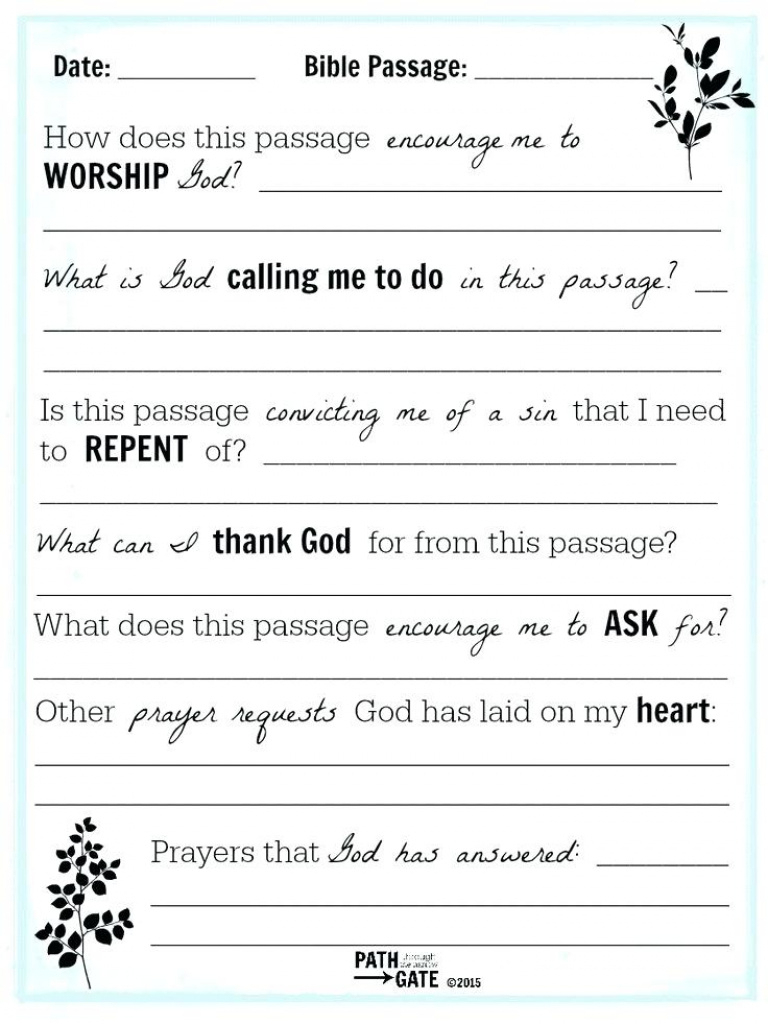 Bible Study Lesson Plan Template - Fivelab Intended For Free - Free Printable Bible Study Lessons For Adults