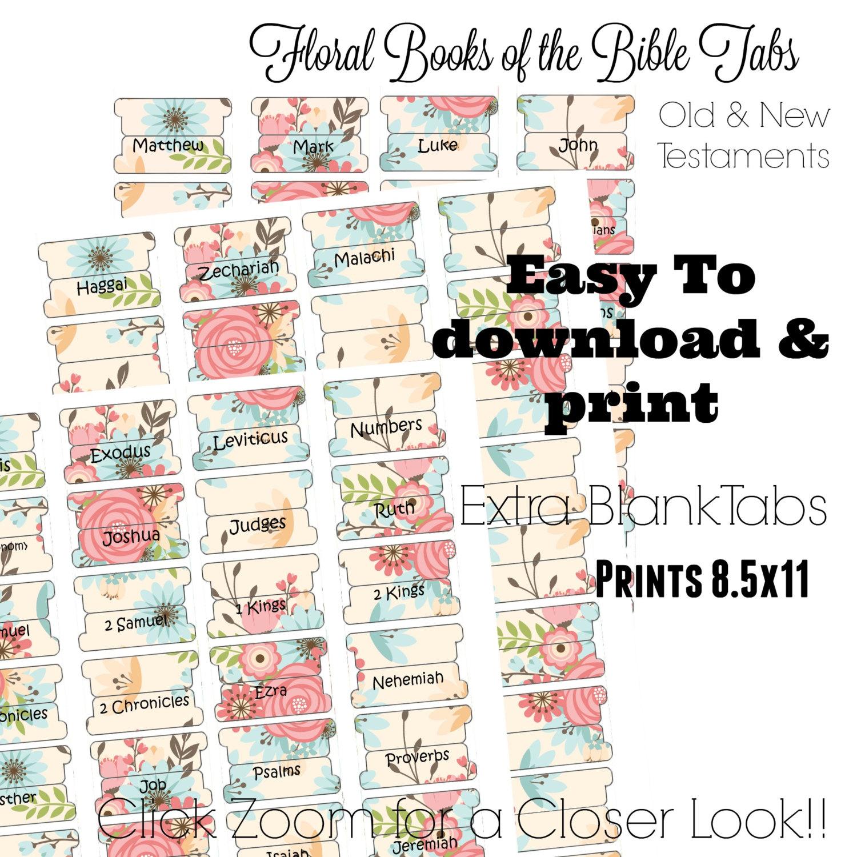 Bible Tabs Printable Bible Tabs Bible Journaling Tabs   Etsy - Free Printable Bible Tabs
