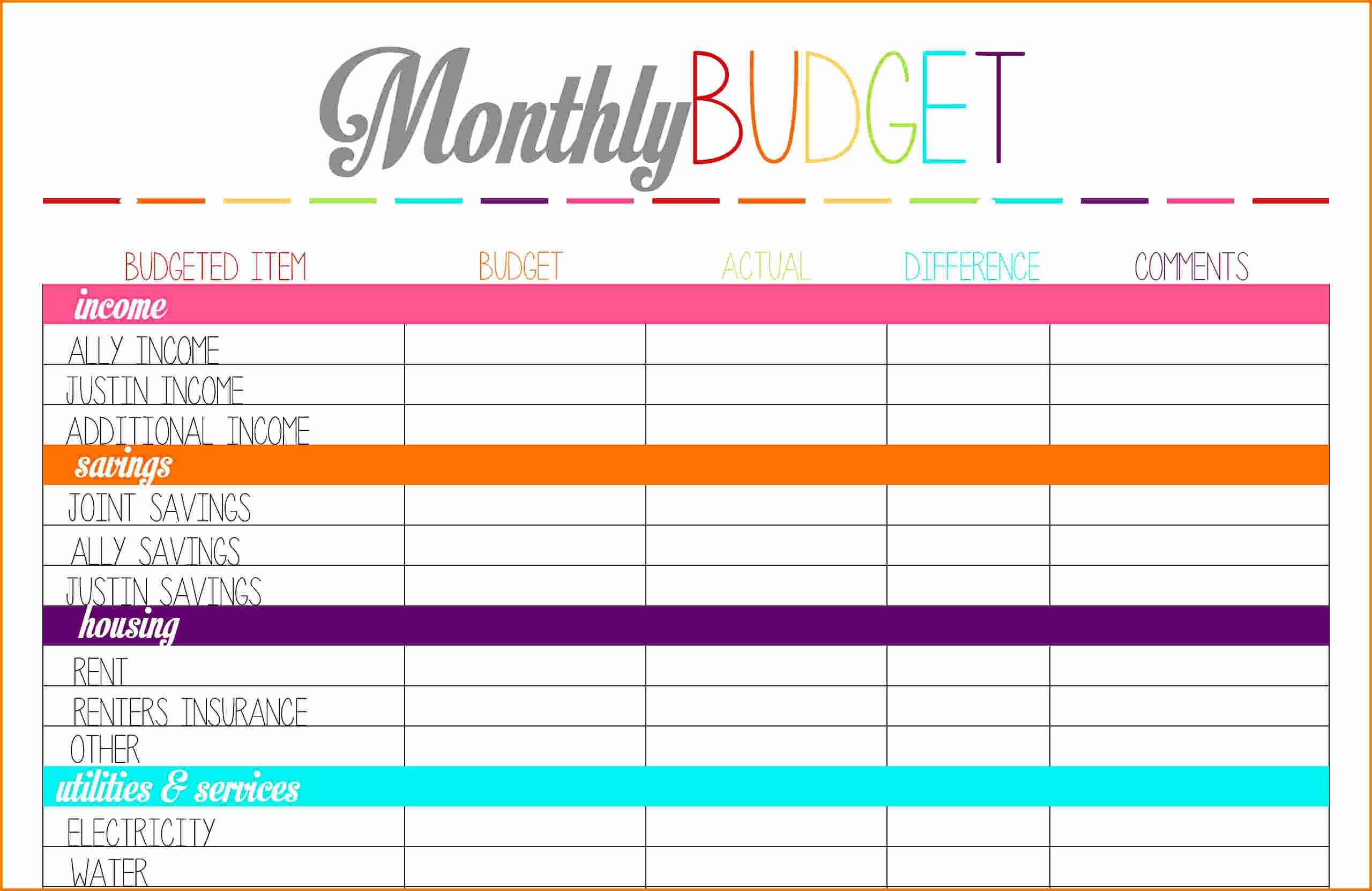 Bill Tracker Template Also Financial Planning Spreadsheet Free And - Free Printable Finance Sheets
