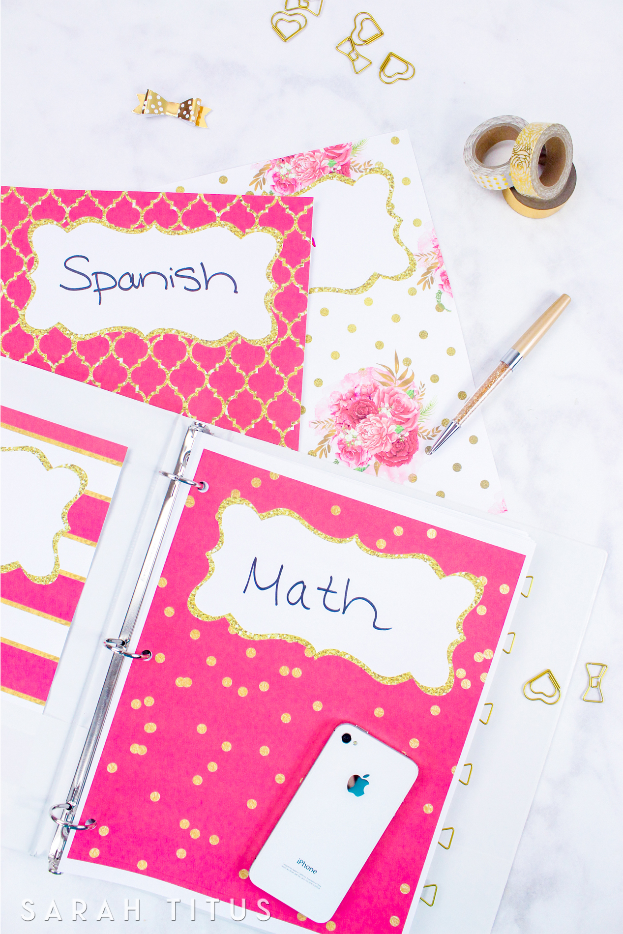 Binder Covers / Dividers Free Printables - Sarah Titus - Free Printable Dividers