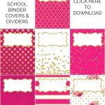 Binder Covers / Dividers Free Printables   Sarah Titus   Free Printable Dividers