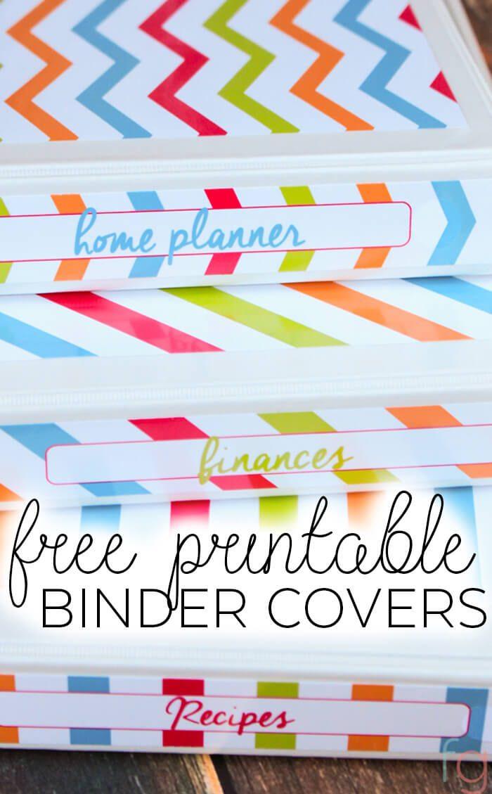 Binder Covers - Free Printable - Free Printable Binder Covers