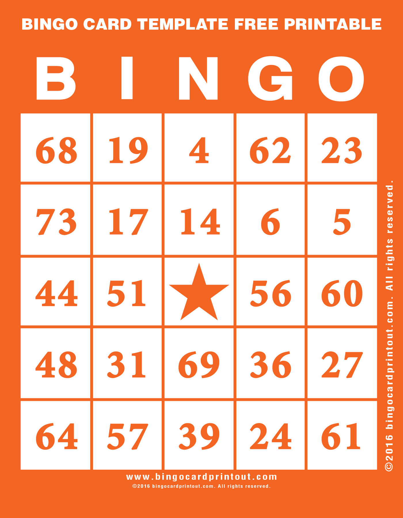 Bingo Card Template Free Printable - Bingocardprintout - Free Printable Bingo