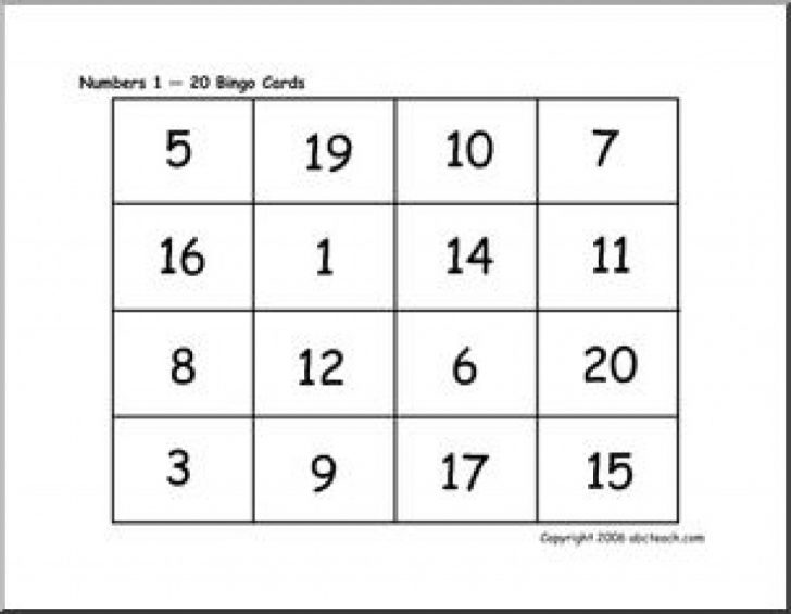 Free Printable Bingo Cards With Numbers