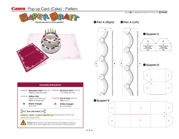 Free Printable Pop Up Birthday Card Templates