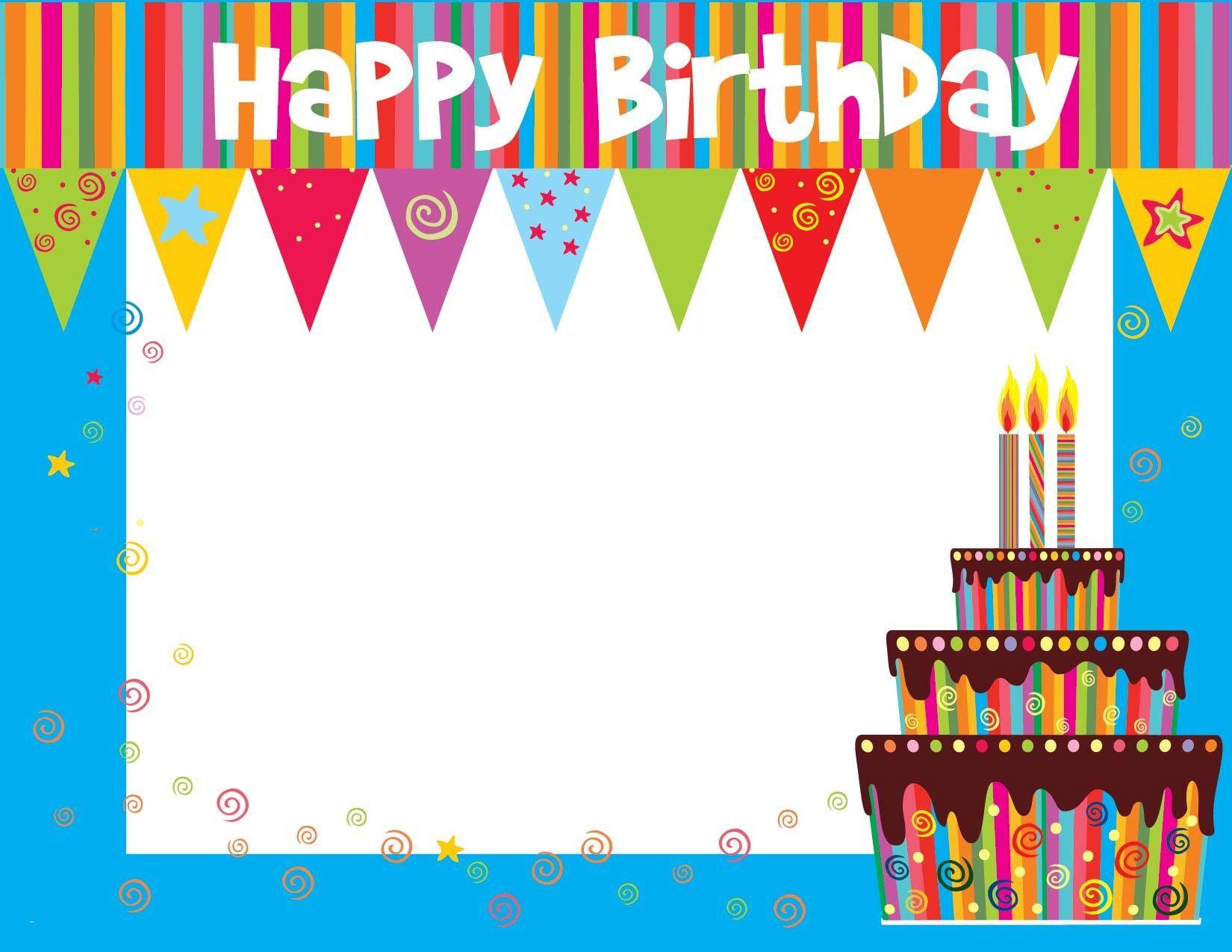Birthday Card Template | Birthday Calendar Template | Birthday Card - Free Online Printable Birthday Cards