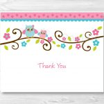 Birthday Card. Thank You Card Template For Baby Shower   Gfreemom   Free Printable Baby Shower Thank You Cards