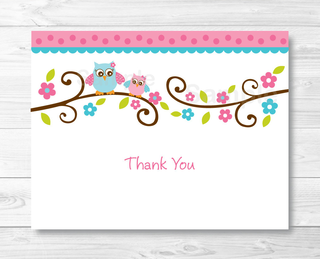 Birthday Card. Thank You Card Template For Baby Shower - Gfreemom - Free Printable Baby Shower Thank You Cards