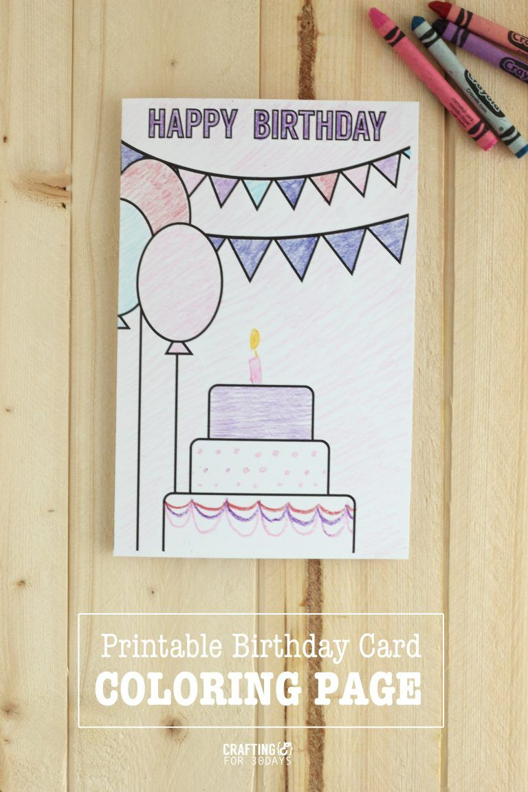 Birthday Coloring Pages | Printables | Pinterest | Coloring Birthday - Free Printable Birthday Cards For Mom