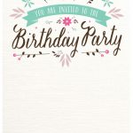 Birthday Inviation Template Invitation Templates Free Online 30Th   Free Printable Invitation Maker