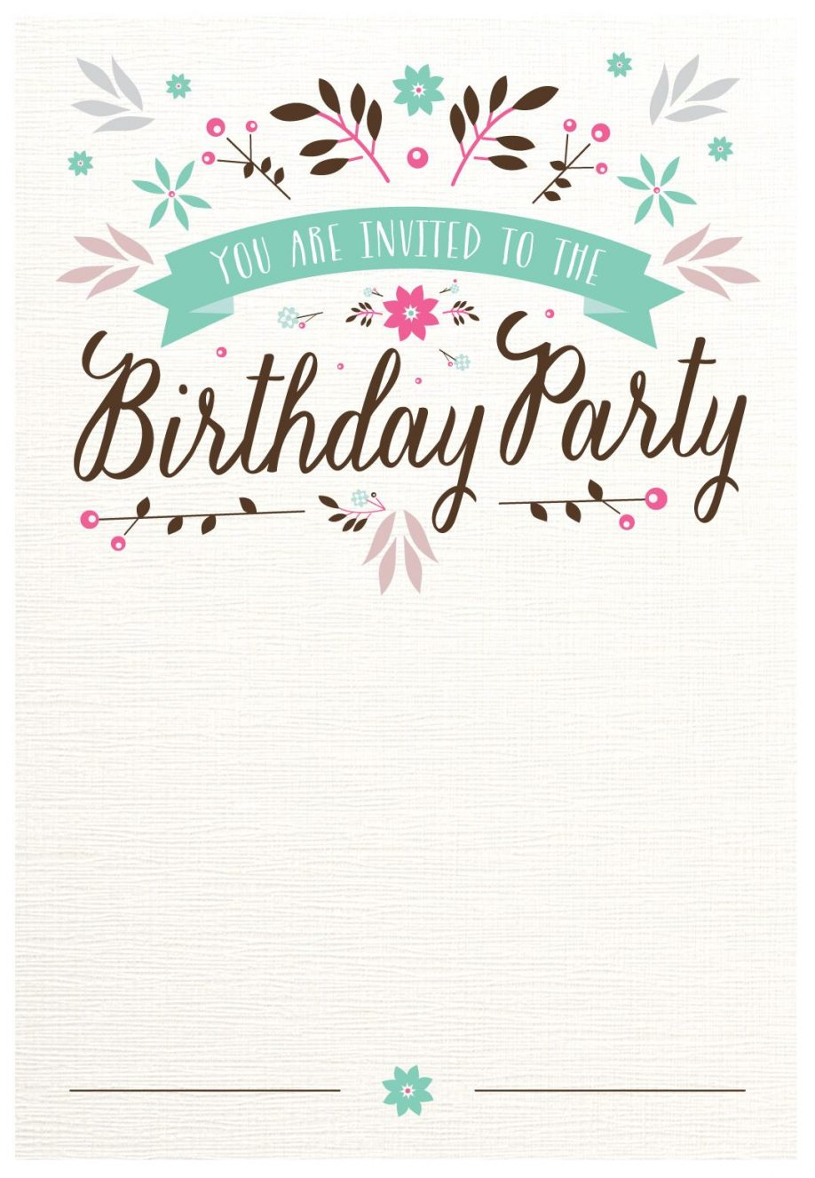 Birthday Inviation Template Invitation Templates Free Online 30Th - Free Printable Invitation Maker