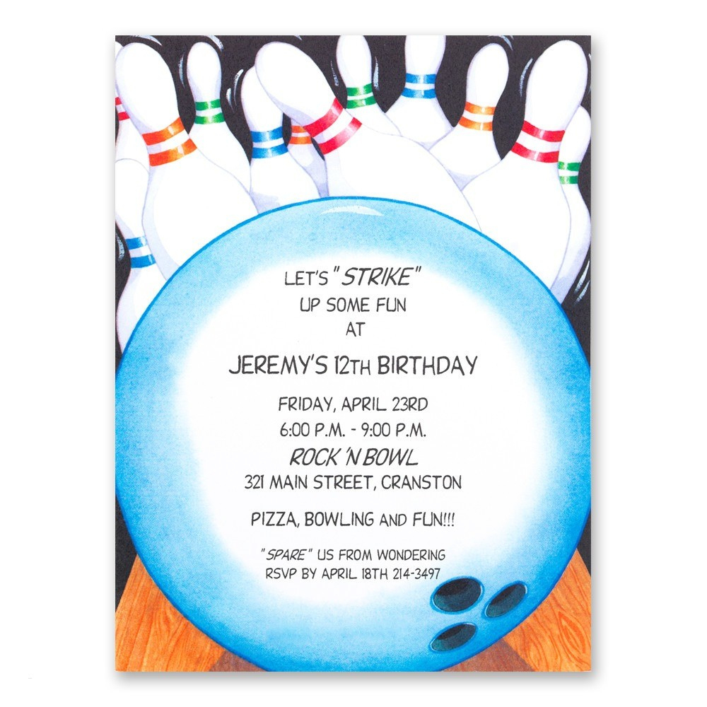Birthday Invitations Bowling Unique Bowling Birthday Invitation - Free Printable Bowling Invitation Templates