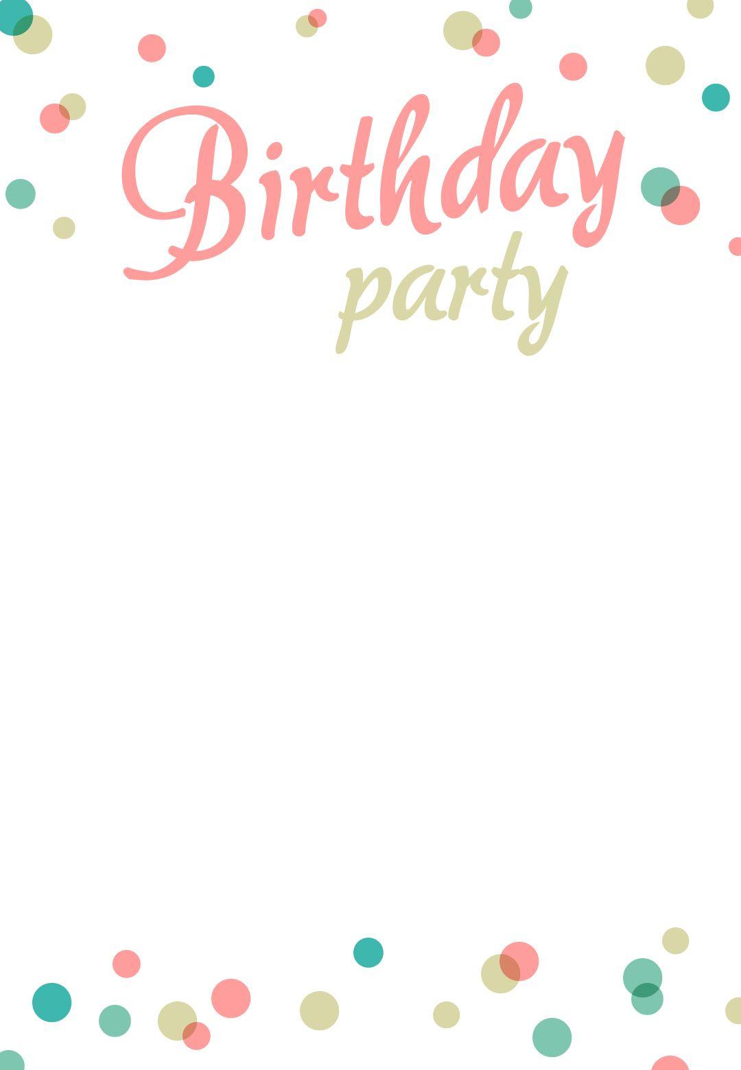 Birthday Party #invitation Free Printable | Addison's 1St Birthday - Free Printable Birthday Invitation Templates