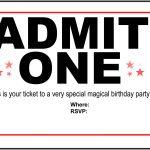 Birthday Party Invitation Free Printable | Printshop. | Pinterest   Free Printable Movie Ticket Birthday Party Invitations