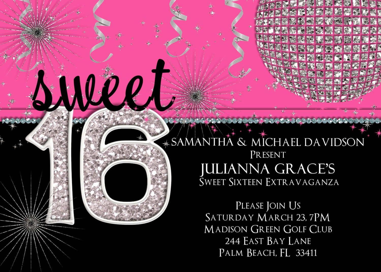 Birthday Party Invitation Templates Printable | Free Printable 16Th - Free Printable 16Th Birthday Party Invitation Templates