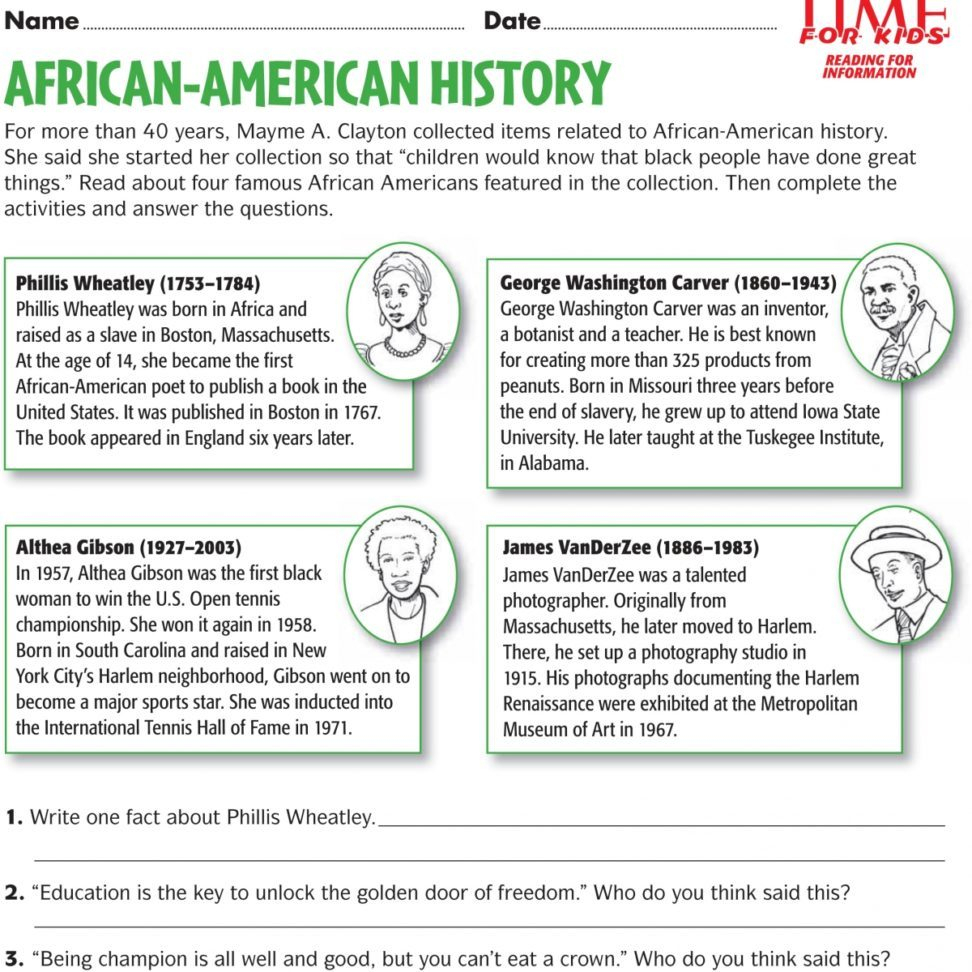 Black History Month Printable Activities – Forprint - Free Printable Black History Month Word Search