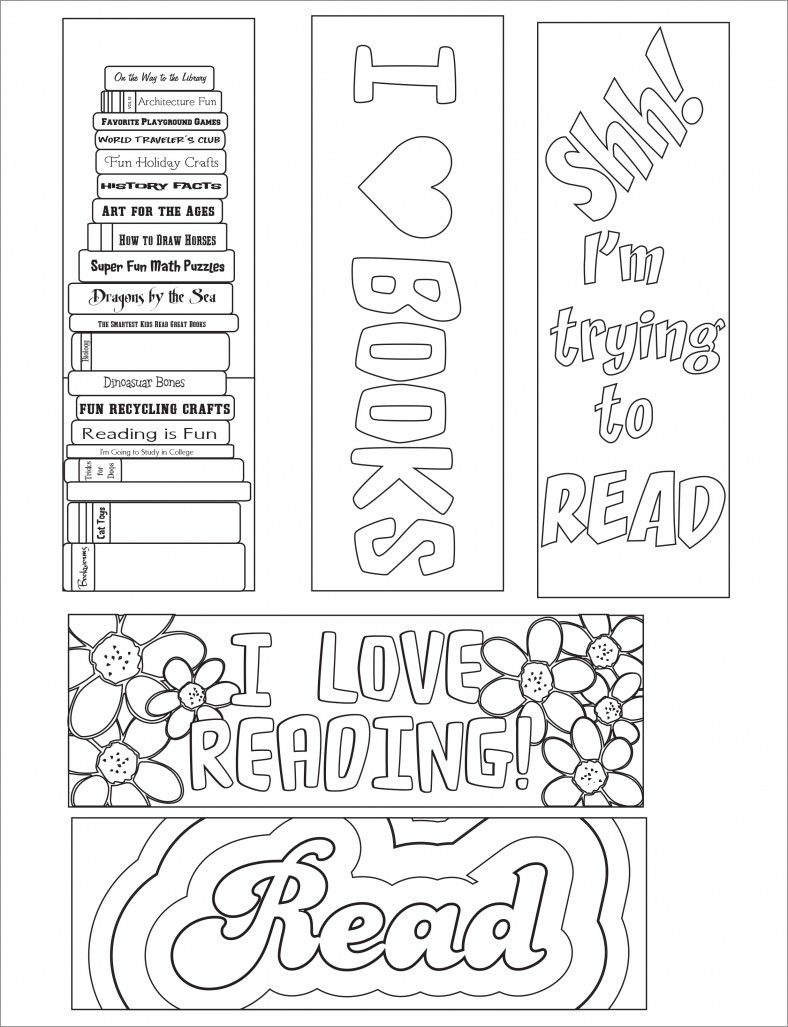 Blank Bookmark Template – 135+ Free Psd, Ai, Eps, Word, Pdf Format - Free Printable Bookmarks For Libraries