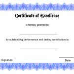 Blank Certificate Templates Of Excellence | Kiddo Shelter | Šįyyy   Free Printable Blank Certificate Templates