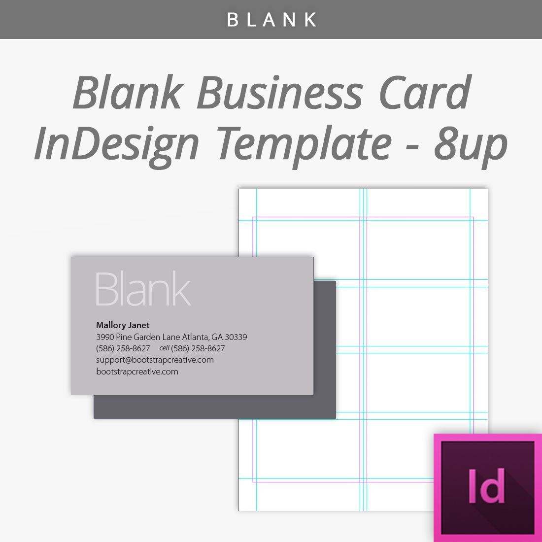 Blank Indesign Business Card Template 8 Up Free Download - Free Printable Blank Business Cards