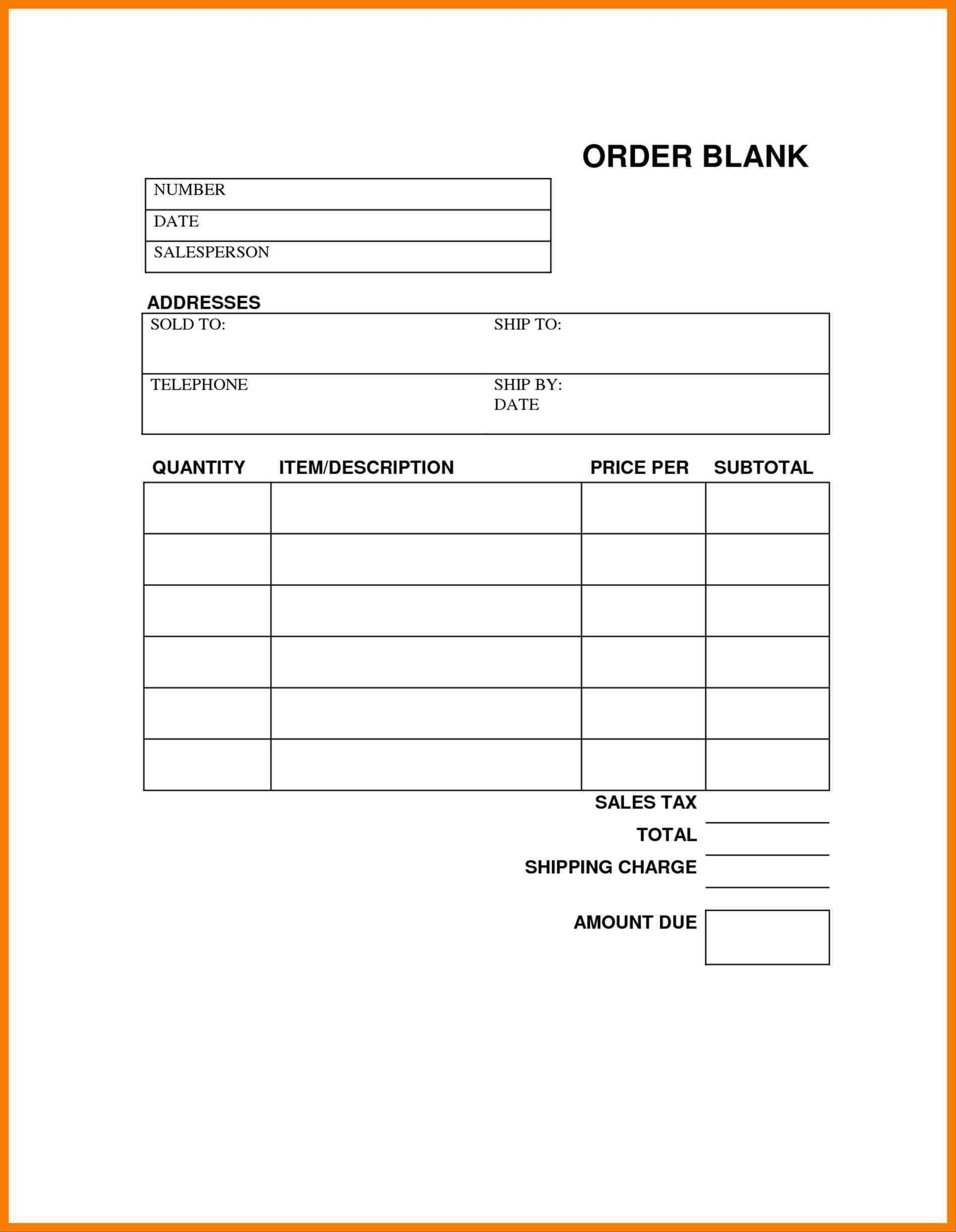 Blank Order Forms Templates Free | Free Tamplate | Pinterest | Order - Free Printable Order Forms