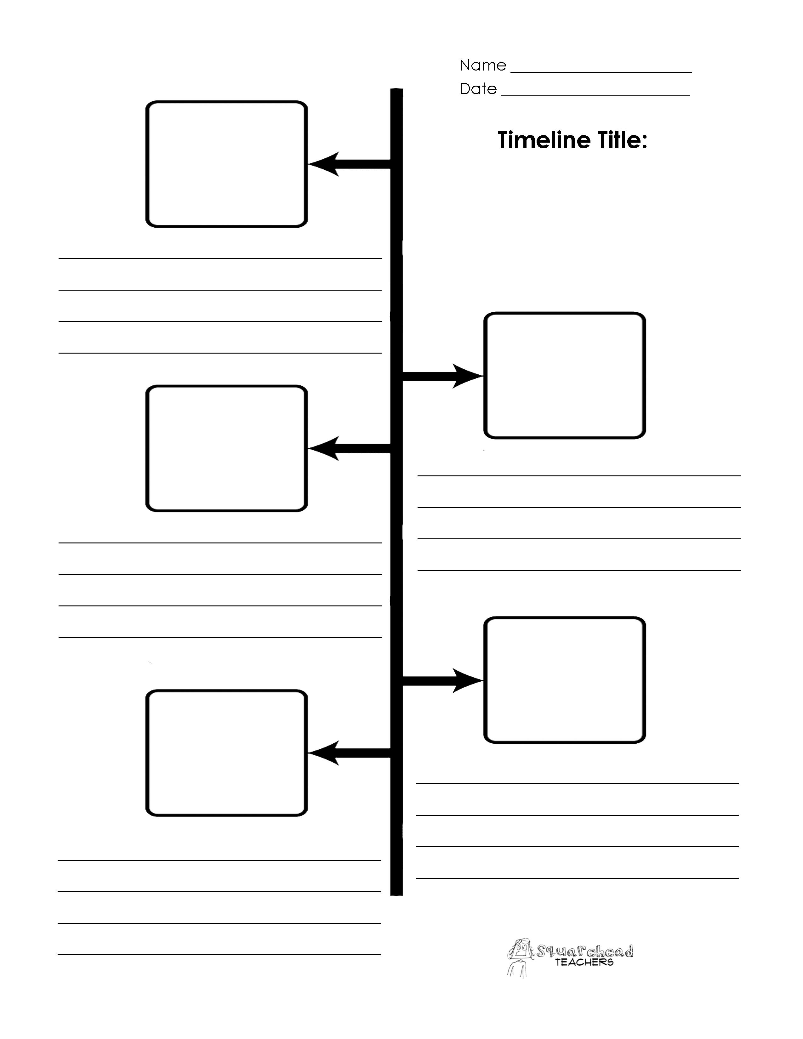 Blank Printable Timeline | Online Calendar Templates - Free Timeline Creator Printable