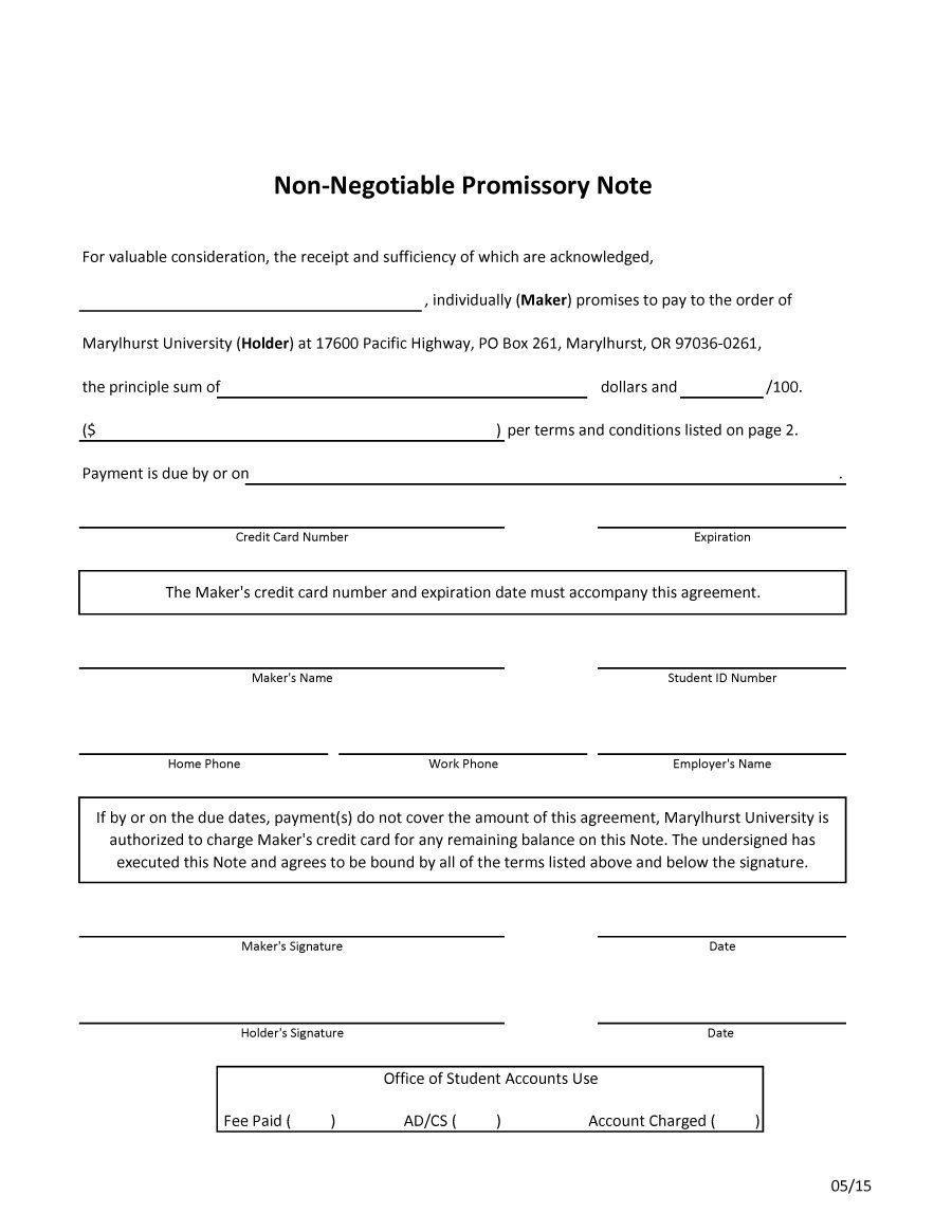 Blank Promissory Notes Free Note Template 04 Check Templates Word - Free Promissory Note Printable Form