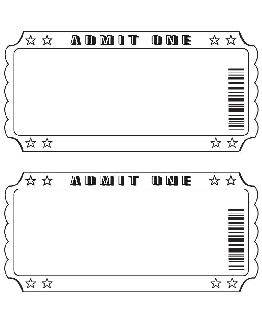 Blank Ticket …   Diy And Crafts   Pinte… - Free Printable Admission Ticket Template