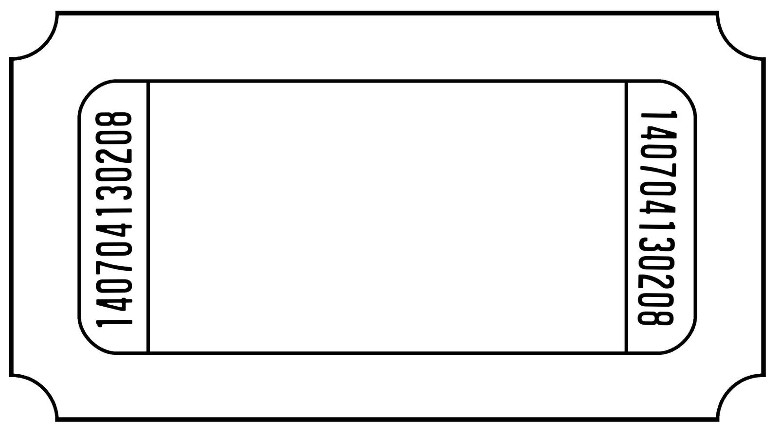 Blank Ticket Stub Clipart - Create Tickets Free Printable