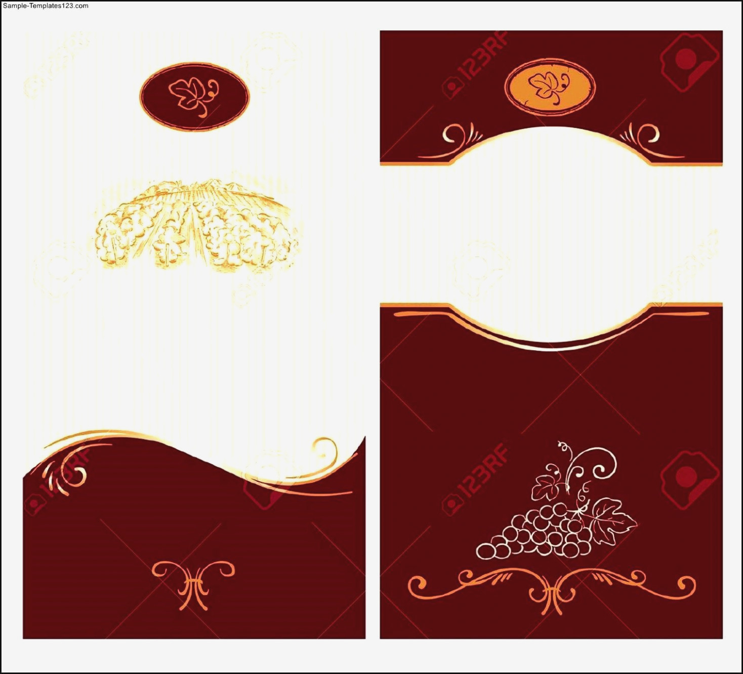 Blank Wine Label Template Sample Templates Template : Mughals – Free - Free Printable Wine Labels