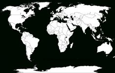 Blank World Map Worksheet ~ Afp Cv - Free Printable World Map Images