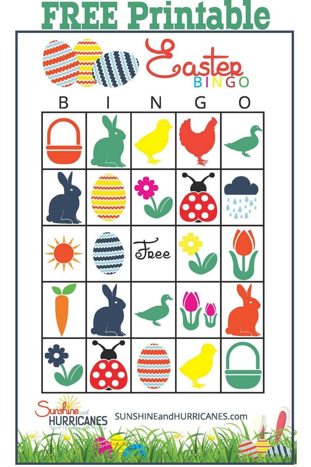 Blue Bunny, Red Basket, Green Duck | Best Of S&h | Easter, Easter - Easter Games For Adults Printable Free