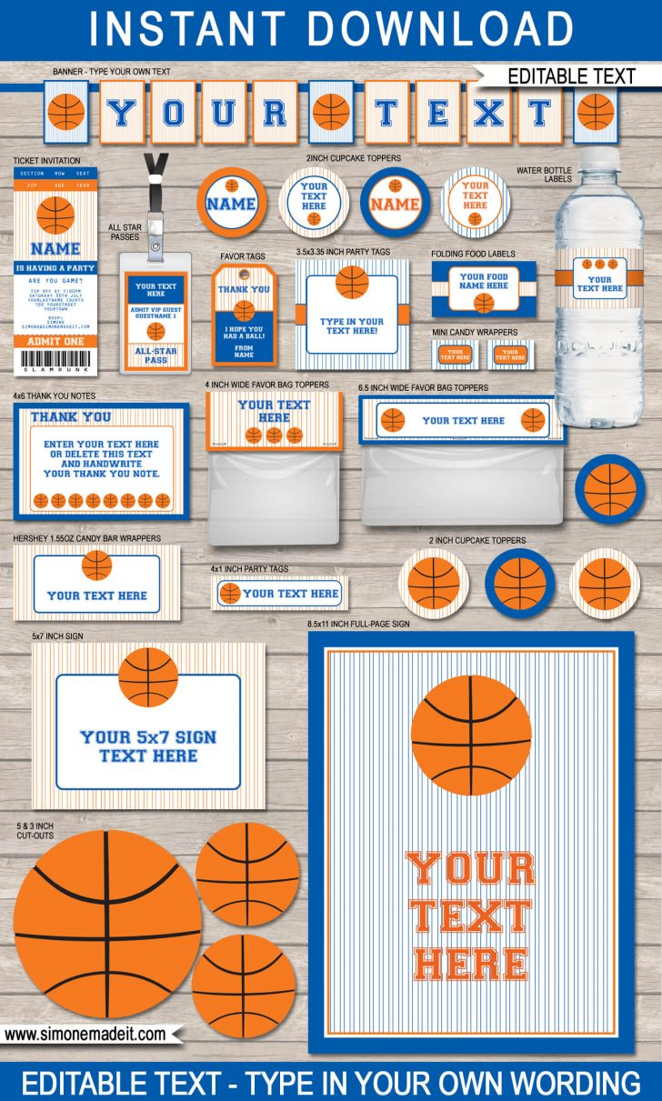 Basketball Invites Free Printable
