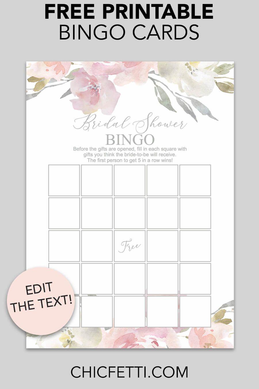 Blush Floral Printable Bridal Shower Bingo | Free Wedding Printables - Free Printable Bridal Shower Bingo
