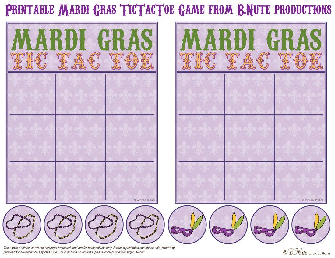 Bnute Productions: Printable Mardi Gras Tictactoe Game   Mardi Gras - Free Printable Mardi Gras Games