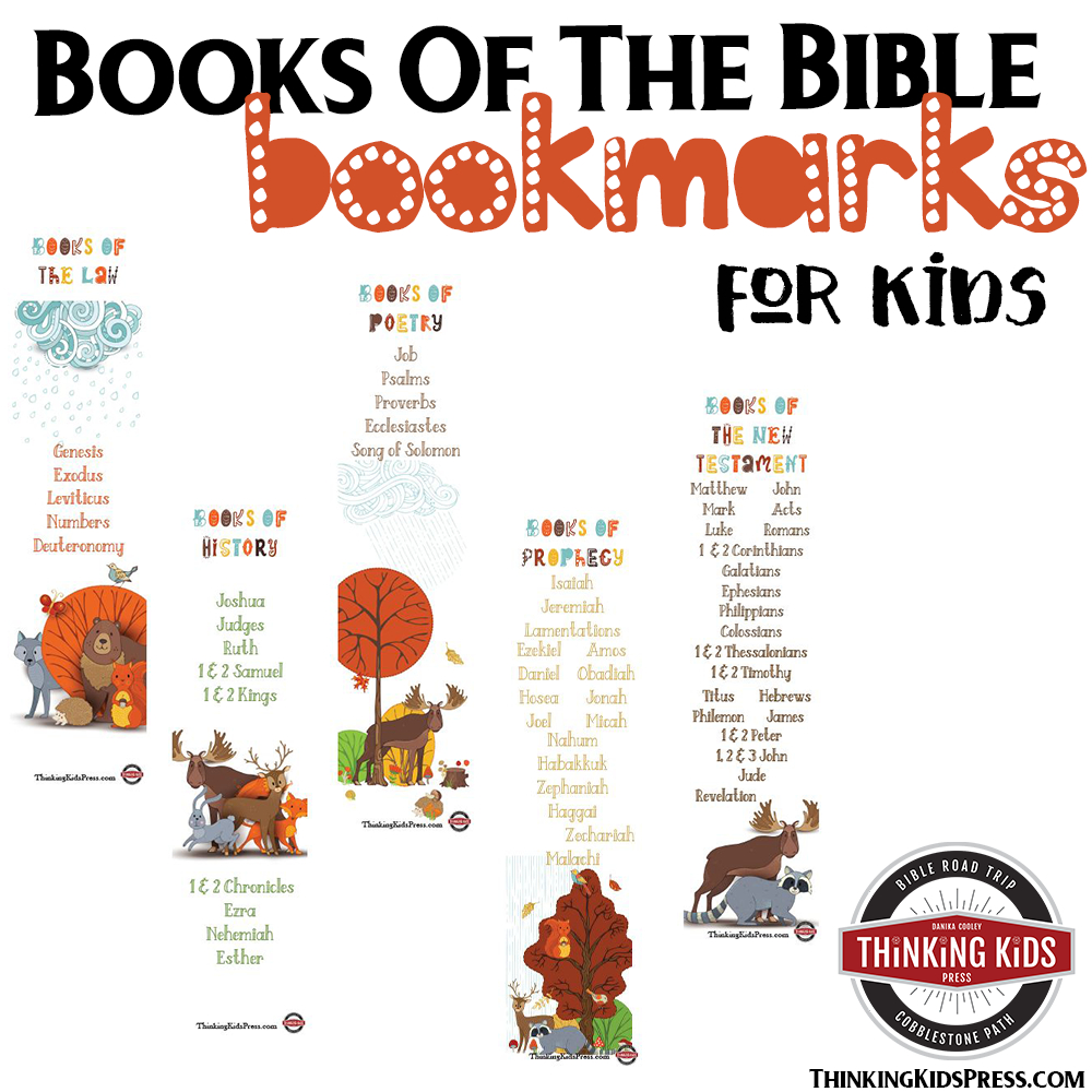 Books Of The Bible Bookmarks - Thinking Kids - Books Of The Bible Bookmark Printable Free