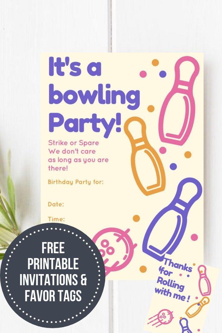Bowling Birthday Party &  Free Printable   Free Printables - Birthday Party Favor Tags Printable Free